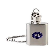 Myrtle Beach SC Flask Necklace