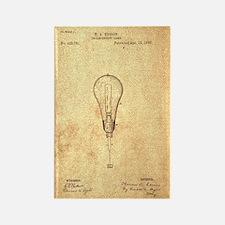 Edison Incandescent Bulb Rectangle Magnet