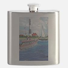 Cute Fire island Flask