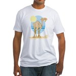 Camel Fitted T-Shirt