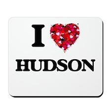 I Love Hudson Mousepad