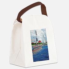 Cute Fire island lighthouse Canvas Lunch Bag