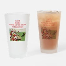 rugby joke Drinking Glass
