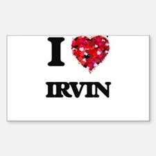I Love Irvin Decal