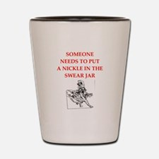 rodeo joke Shot Glass