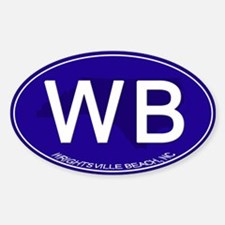 Wrightsville Beach NC Sticker (Oval)
