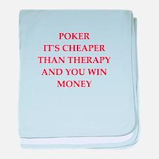 poker joke baby blanket