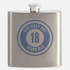 Birthday Boy 18 Years Old Flask