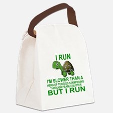 I RUN.  I'M SLOWER THAN A HERD OF Canvas Lunch Bag