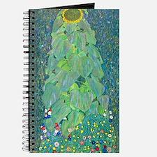 Sunflower by Gustav Klimt Journal