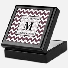 Chevron Custom Monogram Keepsake Box