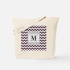 Chevron Custom Monogram Tote Bag
