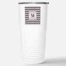 Chevron Custom Monogram Travel Mug
