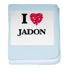 I Love Jadon baby blanket