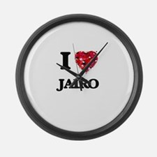 I Love Jairo Large Wall Clock
