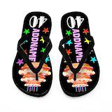 40 birthday Flip Flops