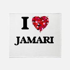 I Love Jamari Throw Blanket