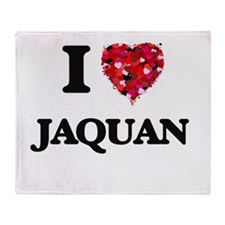 I Love Jaquan Throw Blanket