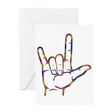 Tiedye ASL I Love You Greeting Card