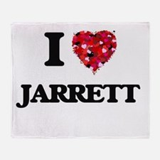 I Love Jarrett Throw Blanket