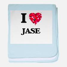 I Love Jase baby blanket
