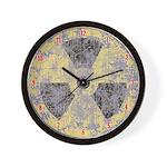 Radiation Symbol Wall Clock