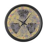 Radiation Symbol Large Wall Clock