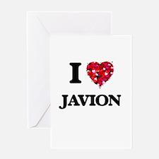 I Love Javion Greeting Cards