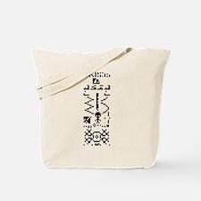 Arecibo Binary Message Answer Reply Tote Bag