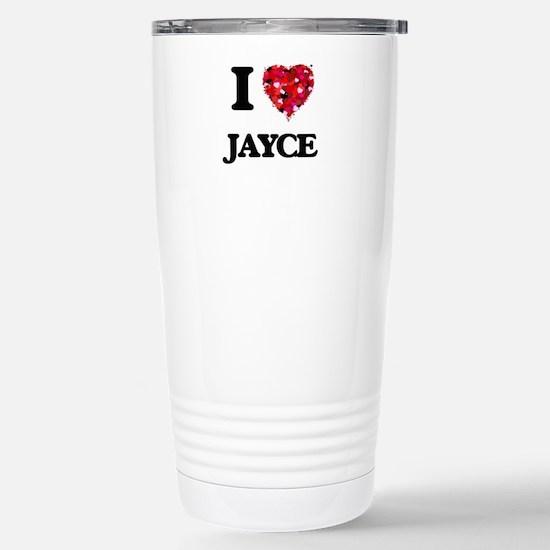 I Love Jayce Stainless Steel Travel Mug