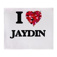 I Love Jaydin Throw Blanket