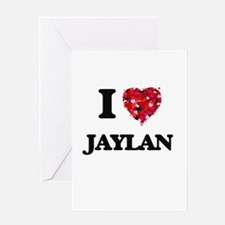 I Love Jaylan Greeting Cards
