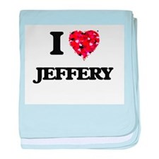I Love Jeffery baby blanket