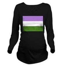Genderqueer Flag Long Sleeve Maternity T-Shirt