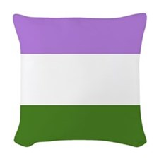 Genderqueer Flag Woven Throw Pillow