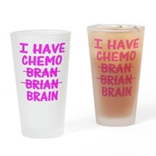 Funny cancer bran brain Drinking Glass