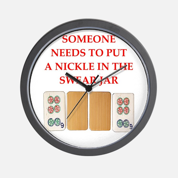 mahjong joke Wall Clock