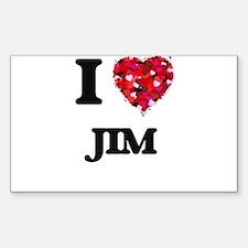 I Love Jim Decal