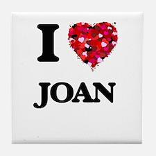 I Love Joan Tile Coaster