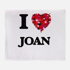 I Love Joan Throw Blanket