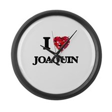 I Love Joaquin Large Wall Clock