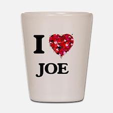 I Love Joe Shot Glass
