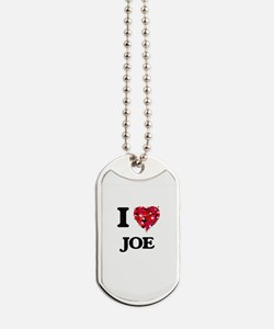 I Love Joe Dog Tags