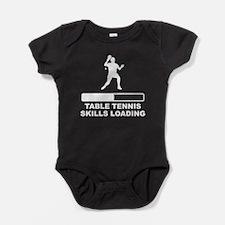 Table Tennis Skills Loading Baby Bodysuit