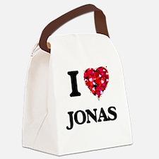 I Love Jonas Canvas Lunch Bag