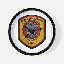 San Bernardino County Fire Wall Clock