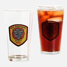San Bernardino County Fire Drinking Glass