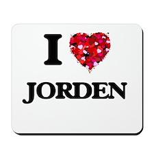 I Love Jorden Mousepad