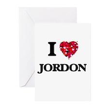 I Love Jordon Greeting Cards