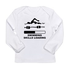 Swimming Skills Loading Long Sleeve T-Shirt